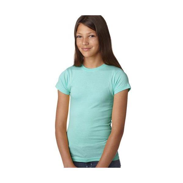 2616 LA T Girls' Fine Jersey Longer Length T-Shirt