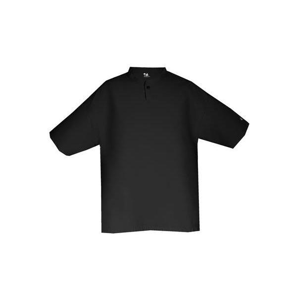 2617 Badger Youth 100% Sanded Polyester Short Sleeve Wind Shirt  - 2617-Black