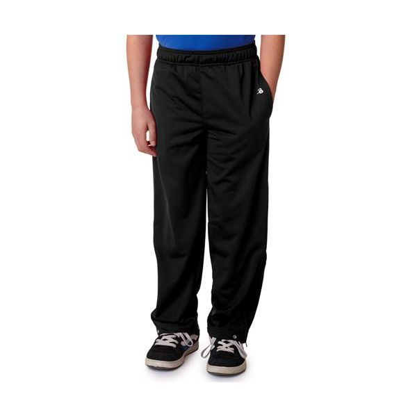 2711 Badger Youth Brushed Tricot Pants  - 2711-Black