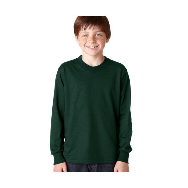 29BL Jerzees Youth Long-Sleeve Heavyweight 50/50 Blend T-Shirt  - 29BL-Forest Green