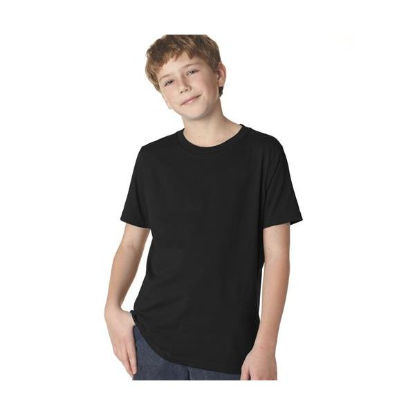 3310 Next Level Boy's Short-Sleeved Cotton Crew Shirt  - 3310-Black