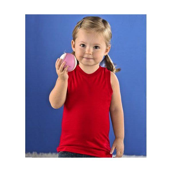 3324 Rabbit Skins Toddler V-Neck Racer Back Tank  - 3324-Red