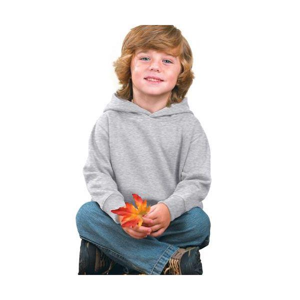 3326 Rabbit Skins Toddler Hooded Blended Sweatshirt with Pockets  - 3326-Ash (99/1)