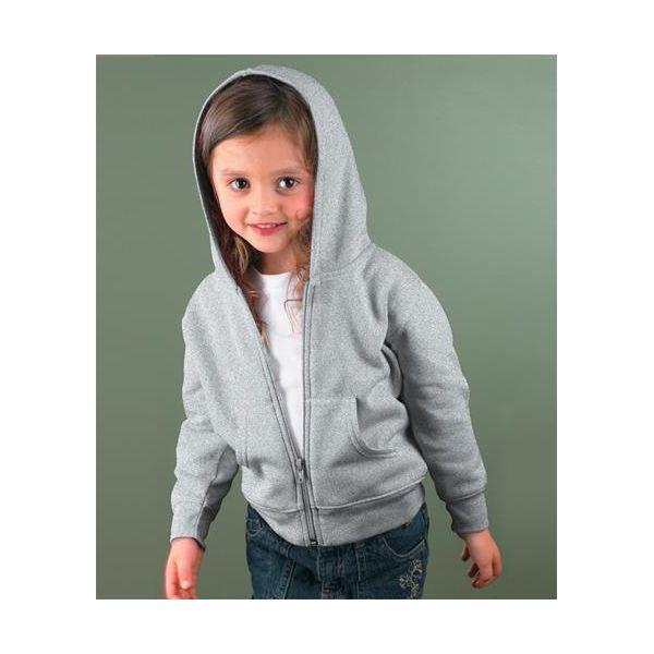 3346 Rabbit Skins Toddler Fleece Zip Hoodie  - 3346-Heather (60/40)