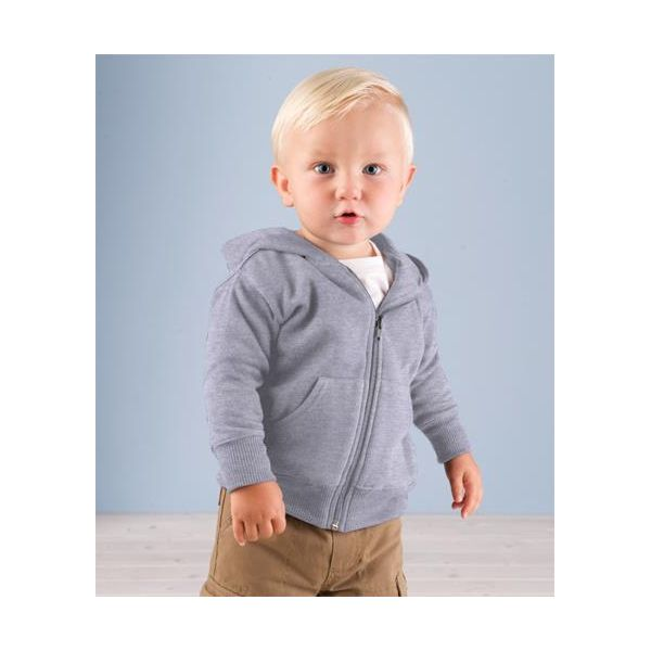 3446 Rabbit Skins Infant Zipper Hooded Sweatshirt  - 3446-Heather (60/40)