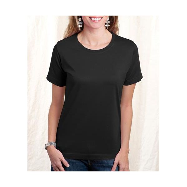 3580 LA T Ladies' Combed Ring-Spun Cotton T- Shirt  - 3580-Black