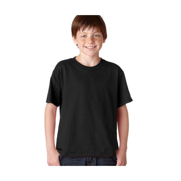 363B Jerzees Youth HiDENSI-TTM Cotton T-Shirt  - 363B-Black