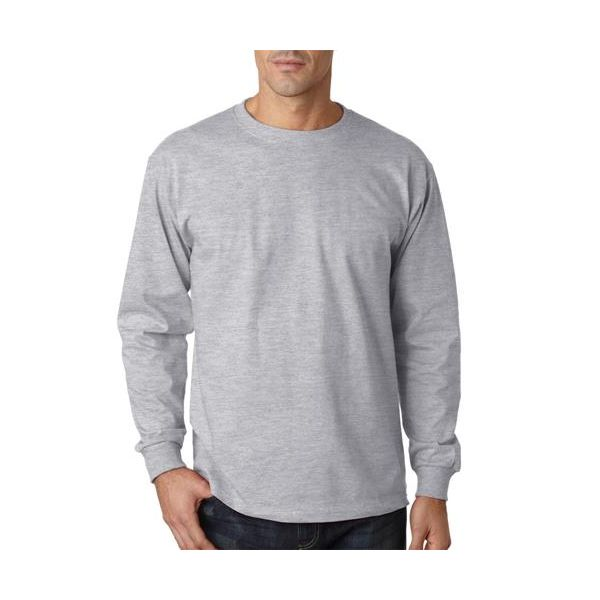 363LS Jerzees Adult HiDENSI-TTM Long-Sleeve Cotton T-Shirt  - 363LS-Ash (98/2)