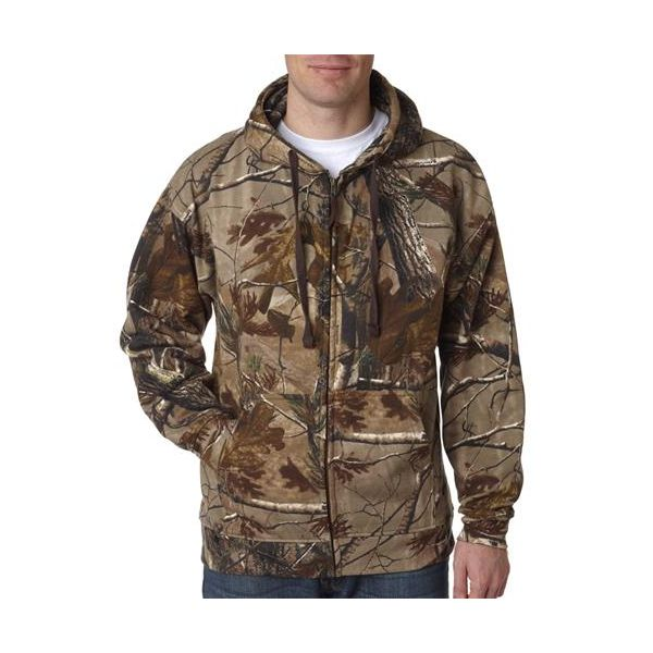 3989 Code V REALTREE Zipper Hooded Sweatshirt  - 3989-Realtree Ap HD