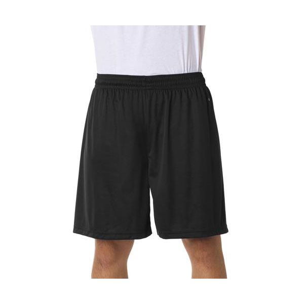 4107 Badger Adult B-Dry Core Performance 7-inch Shorts  - 4107-Black