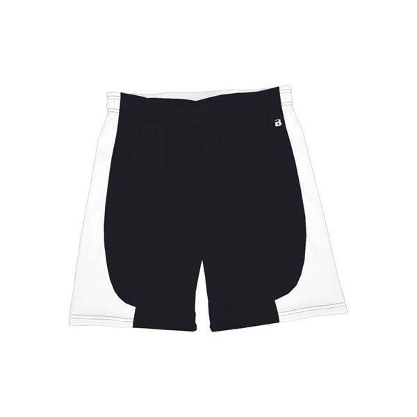 "4113 Badger B-Core ""Turn 2"" Ladies Color Block 6"" Athletic Shorts"