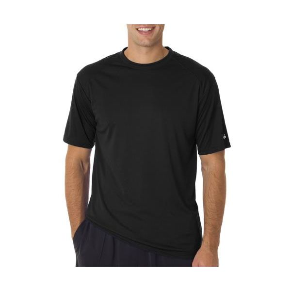 4120 Badger Adult B-Dry Core Short-Sleeve Performance Tee  - 4120-Black