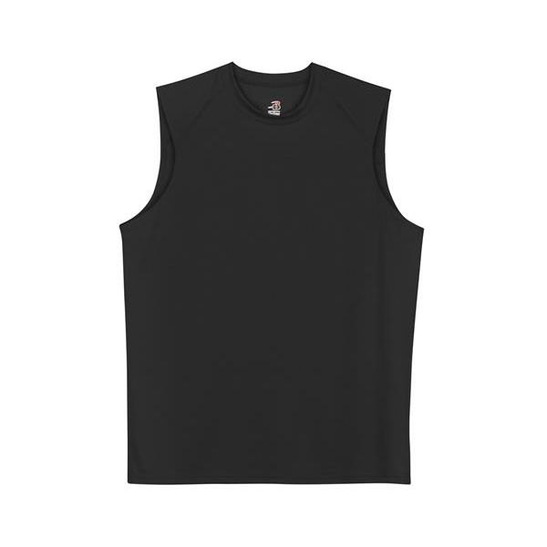 4130 Badger Adult Sleeveless B-Dry Tee  - 4130-Black