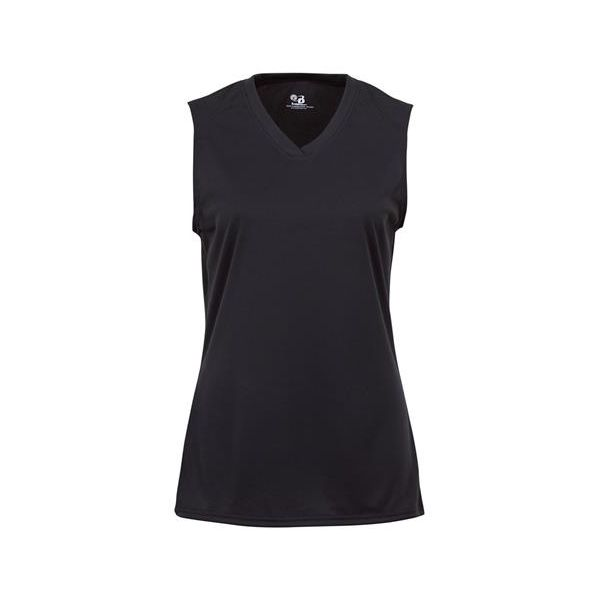 4163 Badger Ladies' Sleeveless Tee  - 4163-Black