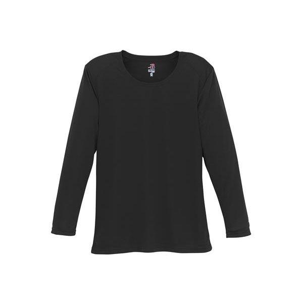 4164 Badger Ladies' B-Dry Core Long-Sleeve Tee  - 4164-Black