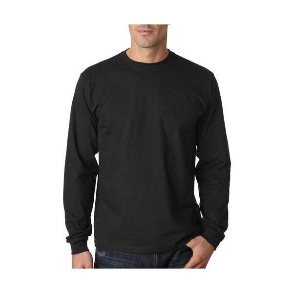 429 AnvilOrganic® Eco-Friendly Adult Cotton Long-Sleeve Tee  - 429-Black