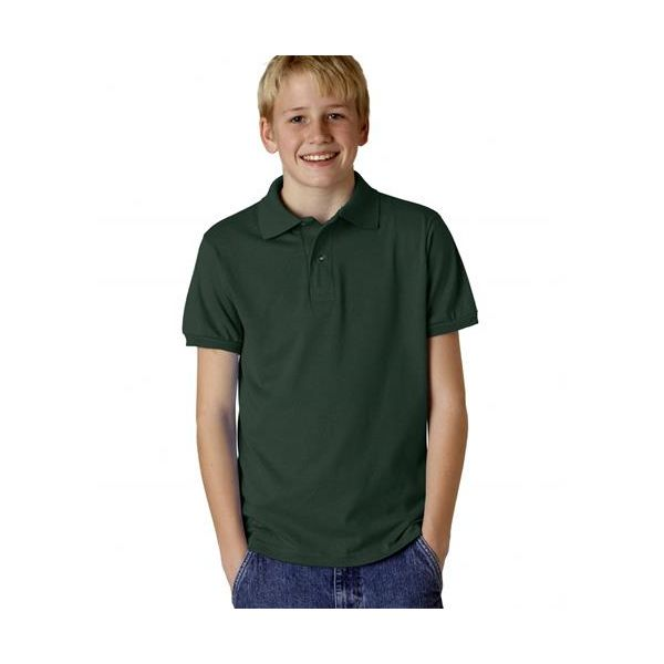 437Y Jerzees Youth 50/50 Jersey Polo with SpotShield®  - 437Y-Forest Green