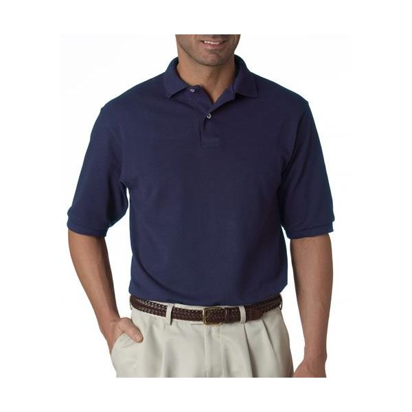 438 Jerzees Adult 50/50 Pique Polo with SpotShield®  - 438-J Navy