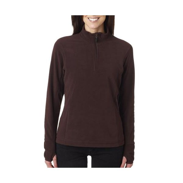4608 Storm Creek Ladies' Microfleece Quarter-Zip Pullover  - 4608-Chocolate