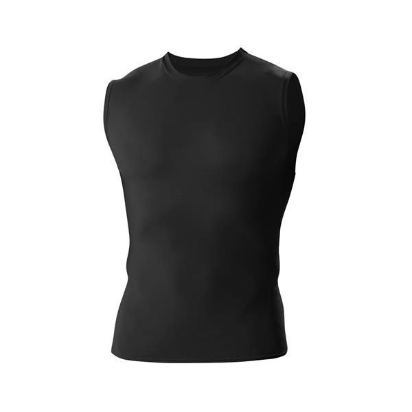 4630 Badger Adult B-Fit Compression Sleeveless Tee  - 4630-Black