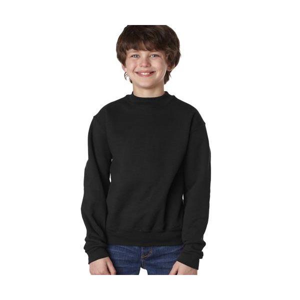 4662B Jerzees Youth Super Sweats® Crewneck Sweatshirt  - 4662B-Black