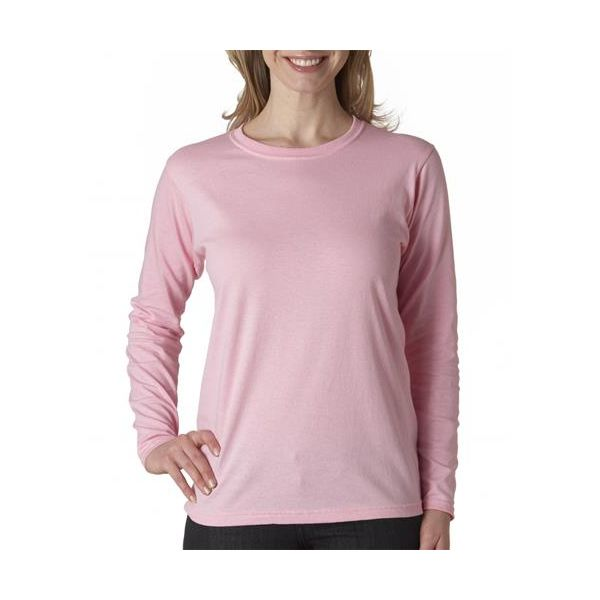 478 Anvil Ladies' Long-Sleeve Heavyweight Cotton Tee  - 478-Charity Pink&#153