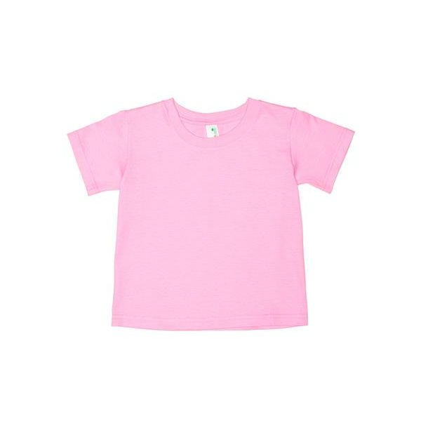 490T AnvilOrganic® Eco-Friendly Toddler Cotton Ring-Spun Tee  - 490T-Charity Pink&#153