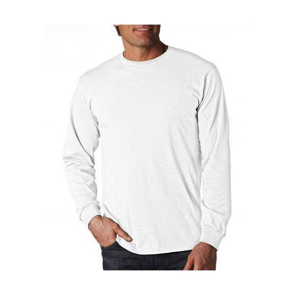 4930 Fruit of the Loom Adult Heavy Cotton HDTM Long-Sleeve T-Shirt  - 4930-White
