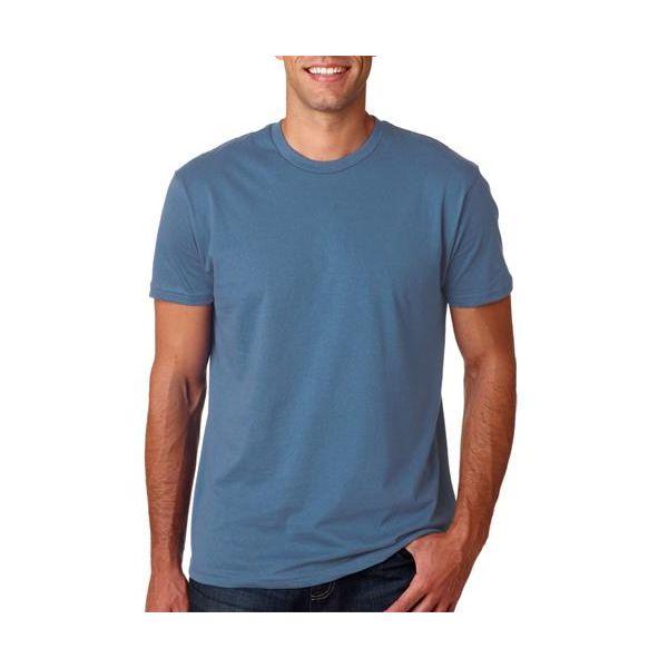 4980 Hanes Adult Nano-T® Cotton Tee  - 4980-Denim Blue