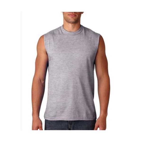 49 Jerzees Adult HiDENSI-TTM Cotton Sleeveless T-Shirt  - 49-Athletic Heather (90/10)