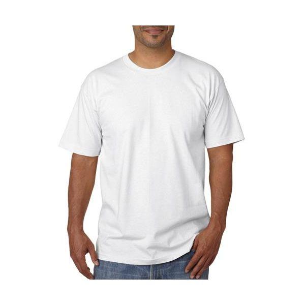 5040 Bayside Adult Short-Sleeve Cotton Tee  - 5040-White