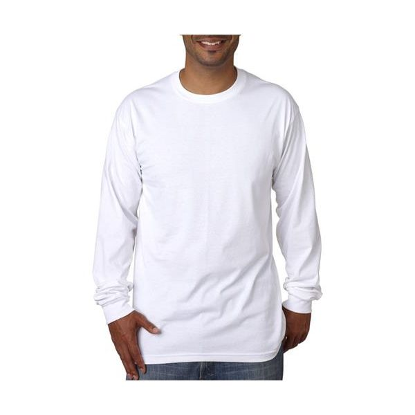 5060 Bayside Adult Long-Sleeve Cotton Tee  - 5060-White