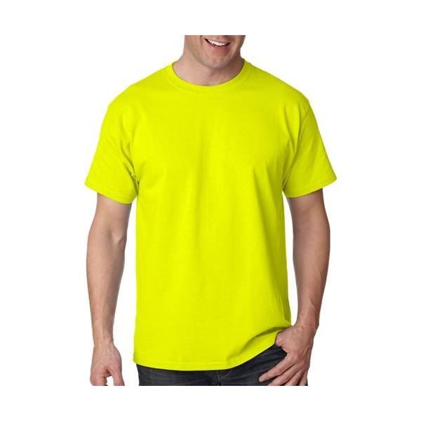 5250 Hanes Adult Tagless® Cotton Tee  - 5250-Safety Green (60/40)
