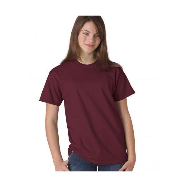5380 Hanes Youth Short-Sleeve Beefy-T® Cotton Tee  - 5380-Maroon