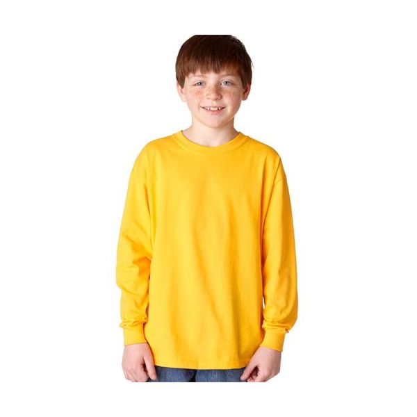 5400B Gildan Youth Heavy Cotton Long Sleeve T-Shirt  - 5400B-Gold