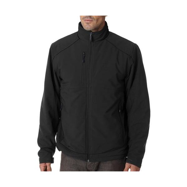 5705 Storm Creek Insulated Ripstop Soft Shell Blended Jacket  - 5705-Black/ Black