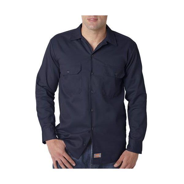 574 Dickies Adult Long-Sleeve Blend Work Shirt  - 574-Navy