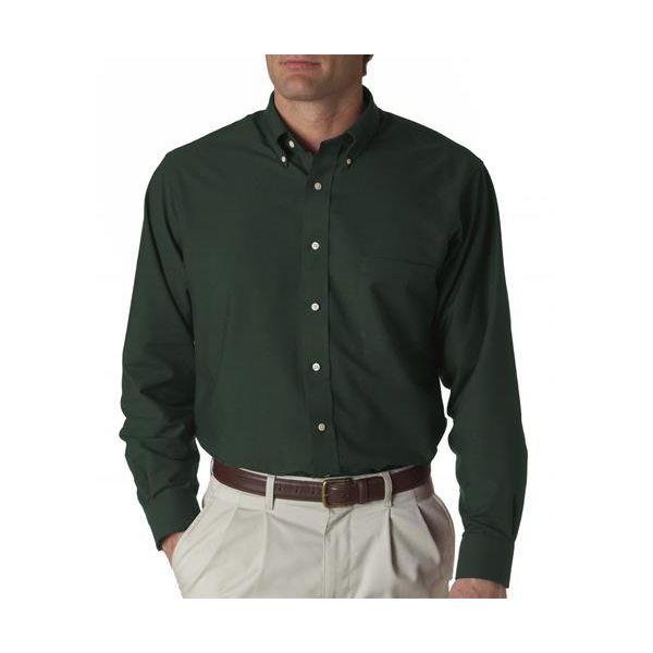 57800 Van Heusen Men's Classic Long-Sleeve Oxford  - 57800-Dark Green