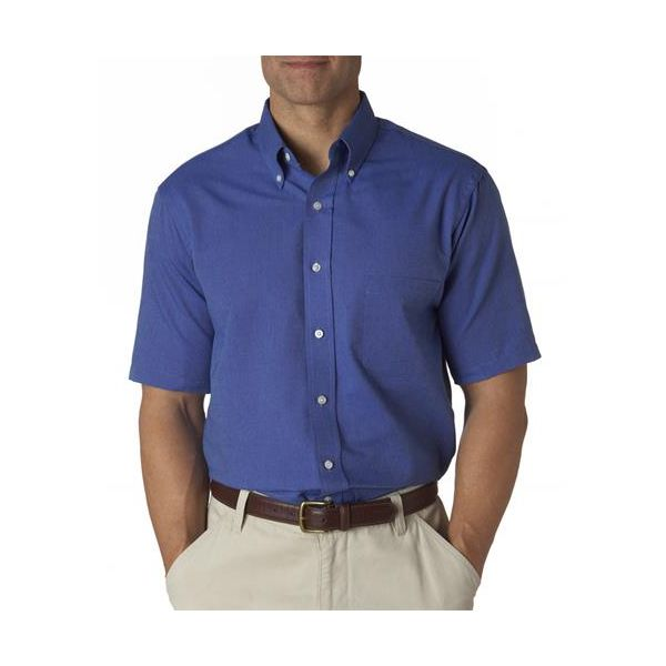 57850 Van Heusen Men's Classic Short-Sleeve Oxford  - 57850-English Blue