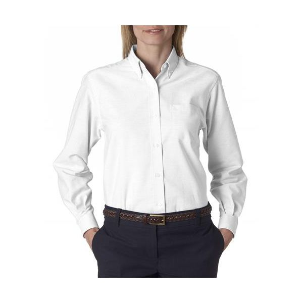 58800 Van Heusen Ladies' Classic Long-Sleeve Oxford  - 58800-White