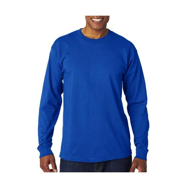 6100 Bayside Adult Long-Sleeve Cotton Tee  - 6100-Royal