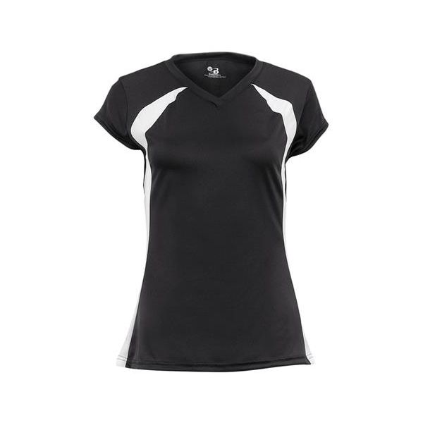 """6161 Badger Ladies Polyester Color Block """"Zone"""" Athletic Jersey"""