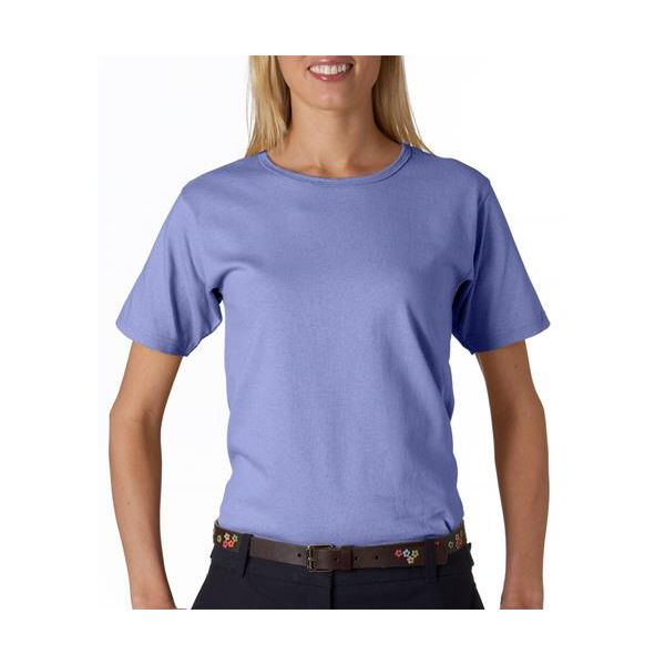 641 Anvil Ladies' Scoop Neck Cotton Tee  - 641-Violet