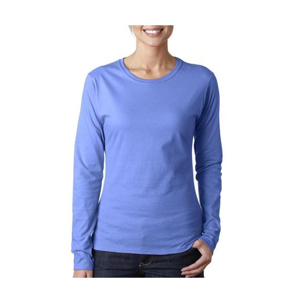 64400L Gildan Junior-Fit Softstyle Cotton Long-Sleeve T-Shirt  - 64400L-Ciel Blue