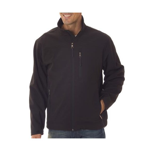 6500 Weatherproof Men's Full-Zip Soft Shell Jacket  - 6500-Black