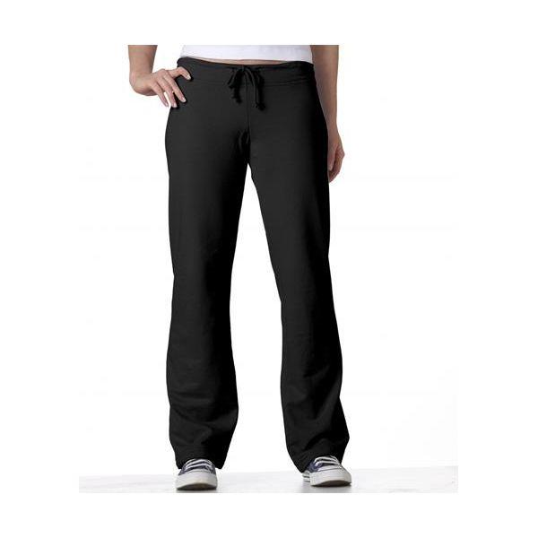 7017 Bella+Canvas Ladies' Cotton Fleece Straight-Leg Sweatpants  - 7017-Black
