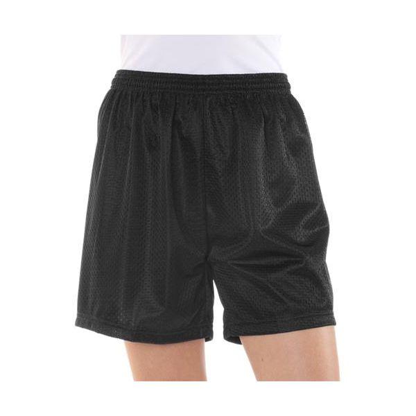 7216 Badger Ladies' Poly Mesh/Tricot 5-Inch Shorts  - 7216-Black