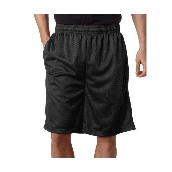 7219 Badger Adult Poly Mesh 9-inch Shorts  - 7219-Black