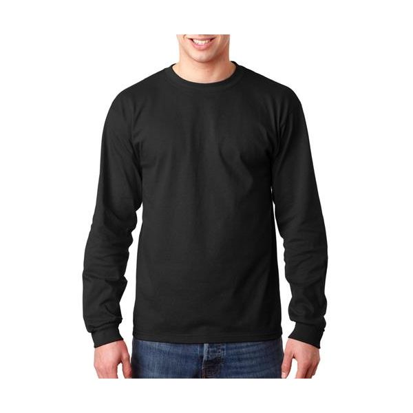 749 Anvil Adult Long-Sleeve Classic Cotton Tee  - 749-Black