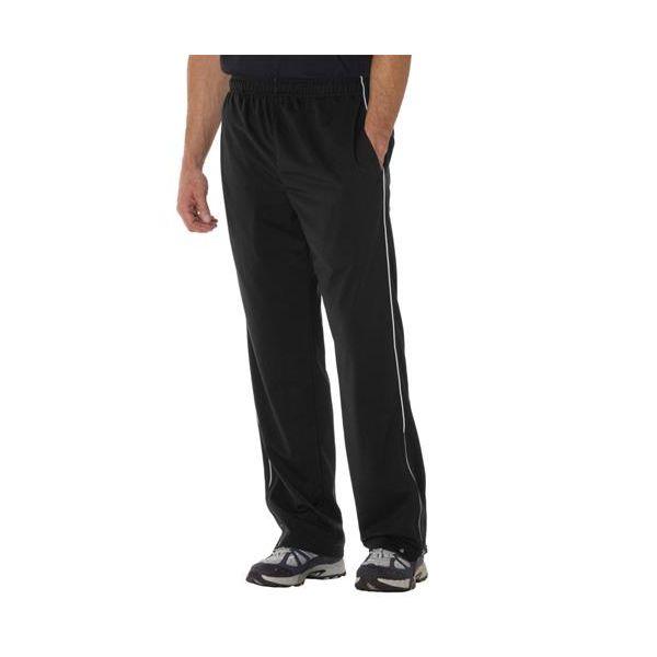 7710 Badger Adult Brushed Tricot Pants  - 7710-Black/ White